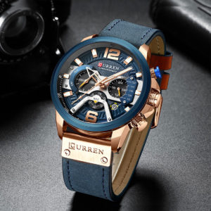 CURREN M8329 Casual Sport Leather Watch for Men