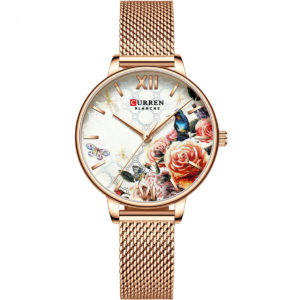 CURREN 9060 Ladies Flower Watches Rose gold